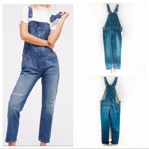 Levis VC Small Jean Overalls Distressed